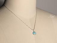 【Mint】进口绿松石原石925纯银锁骨链项链