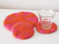 冬天啦,来点温暖的颜色,羊毛毡餐垫