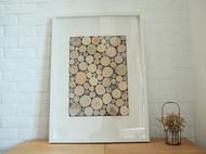 北欧现代装饰画挂画壁画客厅餐厅卧室墙画创意原木立体画