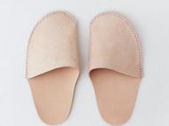 植鞣牛皮手工真皮文艺复古拖鞋家居鞋子日系小清新北欧家居居家