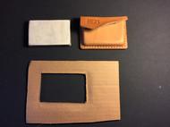 分享一种简易方便省钱的植鞣革塑形卡包做法