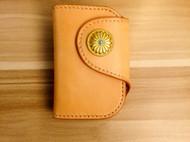 手工创意多脂植鞣革钥匙包 手工钥匙卡套 蝴蝶皮革手作出品