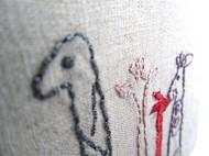 纯手工麻布刺绣手工本  之 恐龙先生