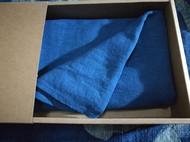 彰施|草木染棉麻柳条纹围巾