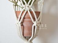 六等星 创意美式花盆花器手编客厅卧室家居装饰品 墙上吊篮网壁饰
