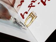 M.Q奎妮小姐 漂浮戒指/925纯银天然珍珠装饰开口戒指