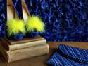 #DIY# 黄色羽毛装饰你的高跟鞋