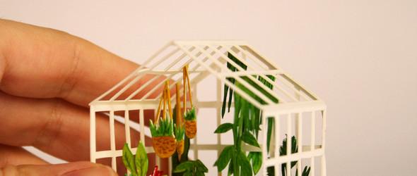 插画,剪纸与电影的奇妙旅程:西班牙艺术家 Mar Cerdà 立体而生动的水彩微缩模型