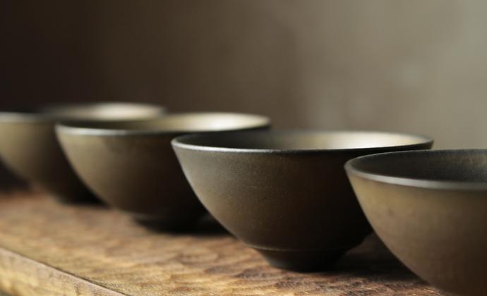 纯手工复古仿古茶具日式禪風茶道細陶茶壶 功夫茶具-斗笠杯(单茶杯)