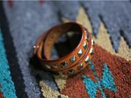 手工皮具原色意大利植鞣革美国爪钉柳钉皮手环皮手镯