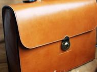 手缝日本进口植鞣皮公文包