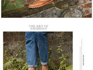 KRUSDAN正品秋冬真皮复古做旧男士潮流皮靴 时尚马丁靴英伦短靴子