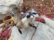 仿真动物羊毛毡 浣熊