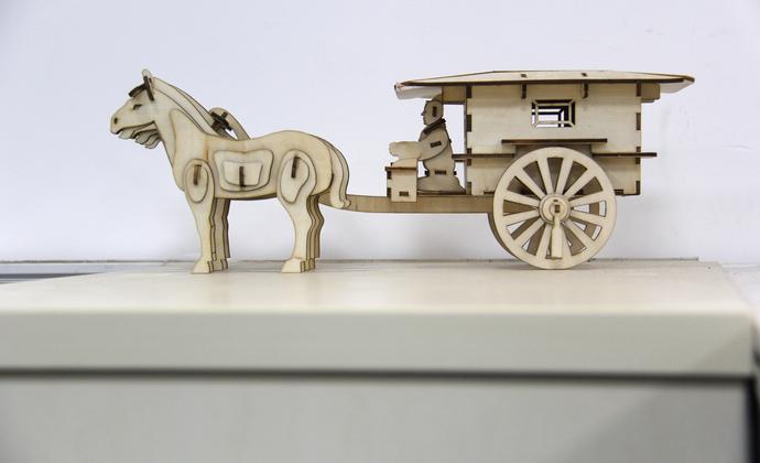 【秦调】铜车马 立体木制拼图