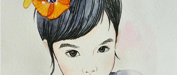 宝贝手绘画像
