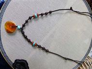 小叶紫檀蜜蜡小串 颈链