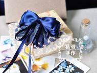 私语手作|原创手工蓝色蝴蝶结发夹 发饰包邮