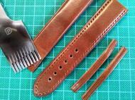手工定制表带:托斯卡纳牛皮表带,手工缝制中…
