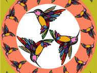 斑斓·飞鸟 原创设计真丝方巾