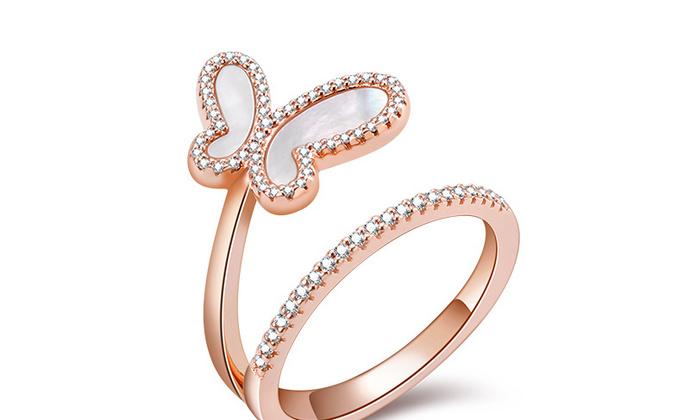 CAMBAS刊芭思珠宝自由蝴蝶戒指女小众时尚轻奢925纯银食指戒情侣