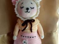 钩织玩偶晚安兔