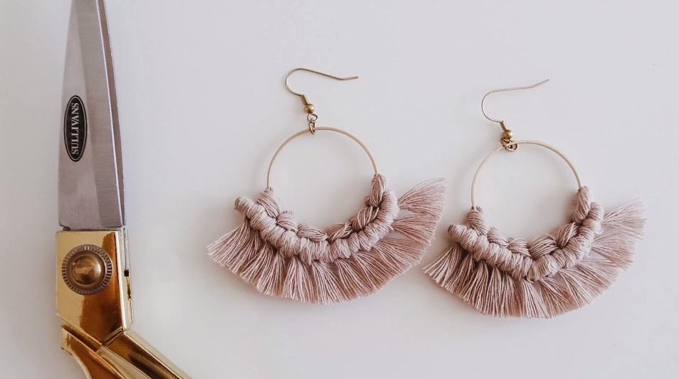 DIY绳编流苏耳环 / DIY Macrame Earrings