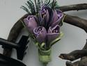 DIY彩色皮革花卉胸针