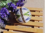 和风紫绿双色八重菊手鞠球