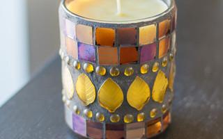 #烛台# 椰油蜂蜡蜡烛diy教程