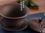 古城记忆盖碗-建水紫陶【泰子陶艺】纯天然陶土 纯手工制作