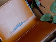 浮生臻制#英国Clayton马缰竖版短夹 海军蓝&London Tan