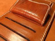 红棕色长钱夹