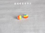 【森姑娘家】彩虹星球耳钉 手绘热缩片耳钉