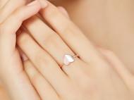 CAMBAS刊芭思珠宝桃心戒指女个性时尚爱心食指指环轻奢纯银饰品