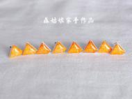 【森姑娘家】埃及金字塔耳钉 手绘热缩片耳钉