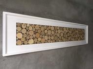 北欧原木装饰画 原创设计客厅沙发背景墙挂画壁画立体画