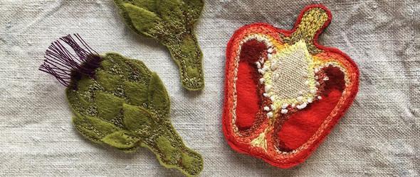 生动立体的毛毡刺绣配件 |  Jane Mitchell-Finc