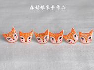 【森姑娘家】害羞狐狸耳钉 手绘热缩片耳钉