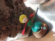 Q版玩偶小王子与玫瑰花超轻粘土纯手工制作