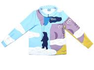 konke原创夏季新品抽象人物休闲复古显瘦百搭娃娃领衬衫布扣定位
