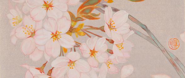 「花に想う」倾听花卉盛开的声音 - 日本画家 野崎慎 ( Chika Nozaki )