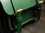 绿色意大利BUTTERO植鞣革剑桥包邮差包