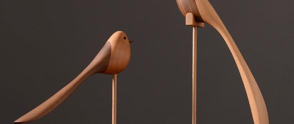 外贸出口 北欧木偶 北欧摆件 北欧家居 丹麦家居 特色实木小鸟