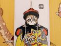 霸气猫咪手绘手机壳