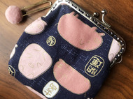 手工制作和风开运猪福猪口金包零钱包