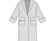 【单车裁缝】浴袍1:1服装裁剪纸样(纸样+缝纫教学视频+包教会)