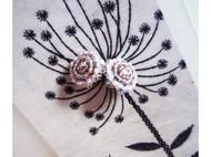 ED0180801 粉色美人花耳钉  甜美温柔 美丽纯真 原创手绣