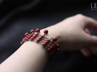 【LXB私人设计】复古多排手链-红色款