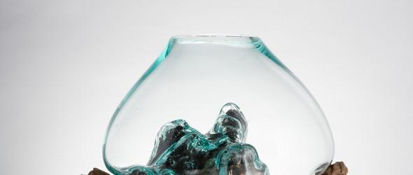 原木 vs 玻璃工艺组合的花器 | WhatIC2