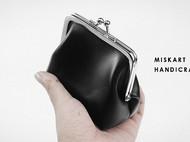 MISKART 手工mini零钱包 口金包 复古手工钥匙收纳包 真皮硬币包